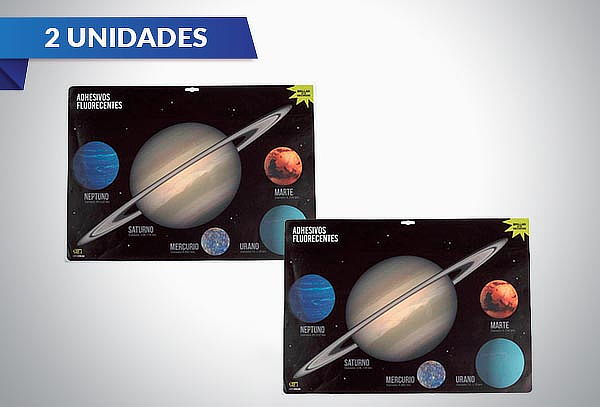 2 o 4 Set de Stickers Luminosos de Planetas XL