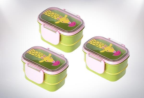 Caja Colación de dos Pisos diseño Jirafa