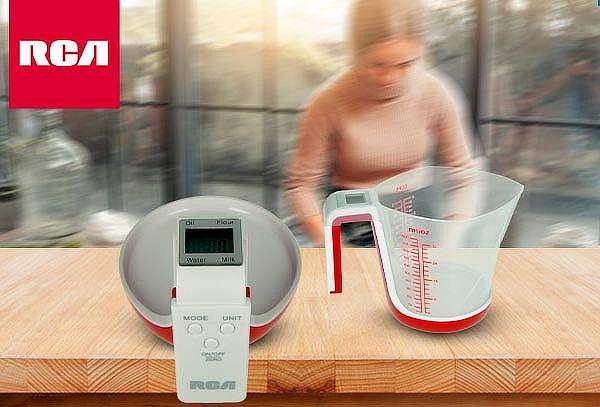 Balanza Digital RCA con recipiente para cocina.