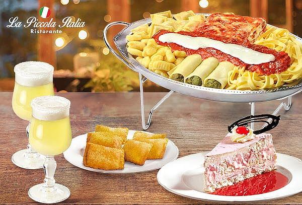 GRAN Menú Piccola Italia Fontana di pasta y mas!