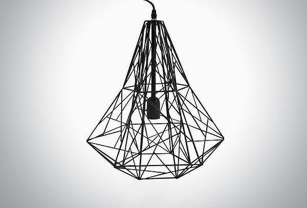 Lámpara Colgante Geométrica Negra