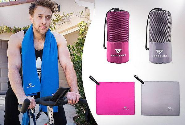 Set de 3 toallas microfibra Exprenee Sport. Color a elección