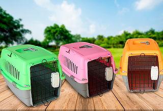 Jaula Básica para Transporte de Mascotas a elección