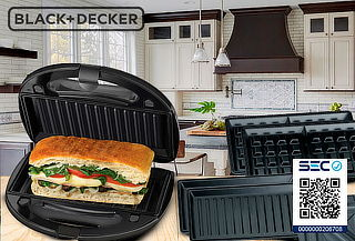 Sandwichera / waflera / Parrilla 3 en 1 Black & Decker