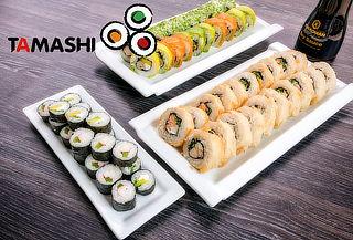 Elige 40, 50, 60 o 100 Piezas de Sushi en Tamashi