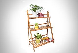 b0104f0a0184 Repisa bambú tipo escalera 3 pisos
