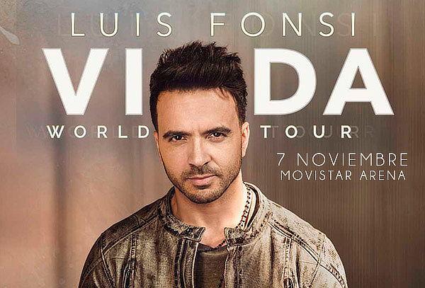 Entrada para LUIS FONSI en Movistar Arena 7 Noviembre 2019