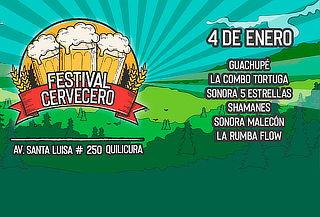 Festival Cervecero: Combo Tortuga, Shamanes, Guachupe