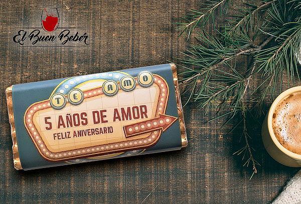 Chocolate de Leche con Etiqueta personalizada para Regalo
