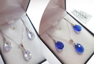 Conjunto Aros + Collar Cristales Swarovski Elements