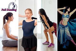 1, 3, 6 o 12 meses de Yoga, Pilates, Danza Árabe y más!