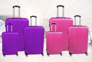 Set de 3 maletas rígidas 360°. Morado ó Rosado