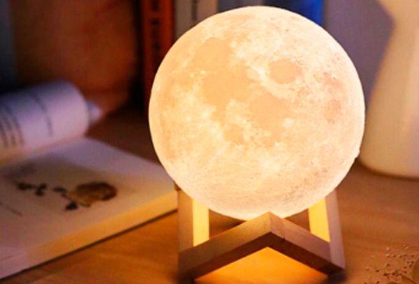 Lámpara Led Recargable Modelo Luna