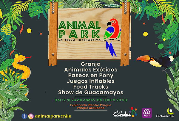 Entrada general para niño o adulto al Animal Park 2020