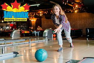 1 hora de bowling + arriendo de zapatos para 4 personas