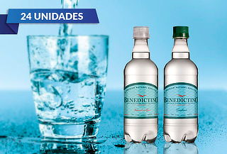 24 Botellas de Agua Purificada Benedictino con gas o sin gas