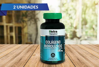 2 Frascos de Colageno Hidrolizado 60 capsulas