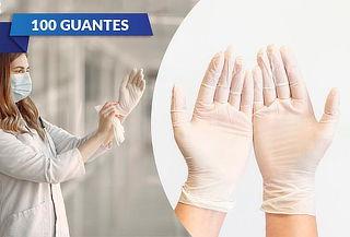 Caja de 100 Guantes de Vinilo Talla Mediana. Protégete.