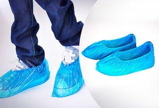 100 Cubrecalzados Desechables Azul