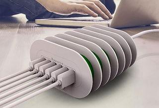Cargador para Escritorio con 6 Puertos USB 7A