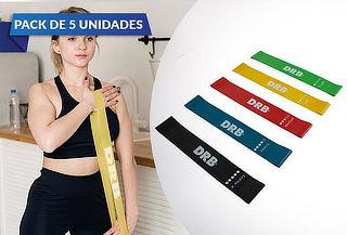 Pack 5 Bandas Elásticas Circulares ¡Entrena En Casa!