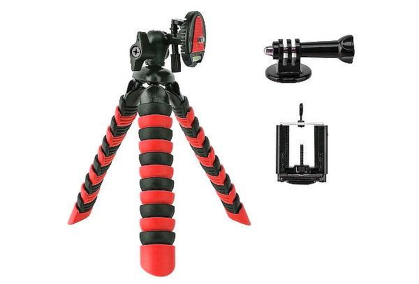 Trípode Flexible + Soporte de Celular Negro/Rojo + Envío