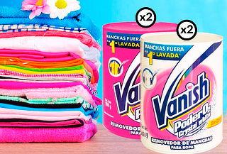 Pack 4 Vanish en Polvo 450 Gr, 2 Blanco y 2 Rosa