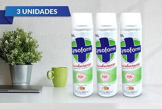 Pack de 3 unidades de aerosol desinfectante Lysoform 360 ml