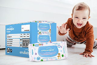 Pack 24 Paquetes Emuwipes® 50P Emubaby
