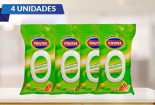 Pack de 4: 50 Toallas Desinfectantes Multiuso Easy Virutex