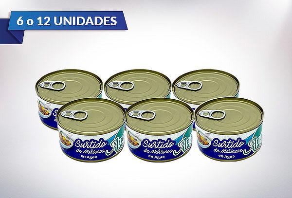 Pack de 6 o 12 Surtido de Mariscos Angelmo  190 gramos