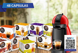 Cafetera DG Piccolo + 48 Capsulas Dolce gusto a Elección