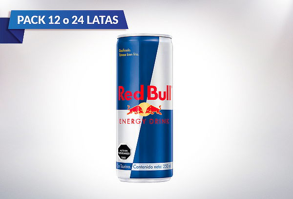 pack 12 o 24 latas de redbull normal 250 cc