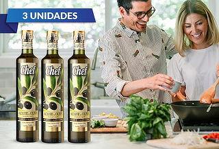 Pack 3 Chef Aceite de Oliva Extravirgen 500 ml
