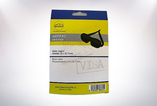 Antifaz de Viajes Pro Outdoor Negro