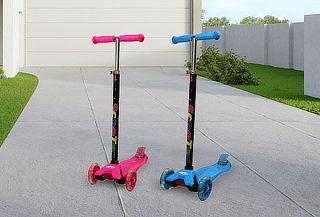 Monopatín Scooter Xl 4 Ruedas Luz Led Para Niños
