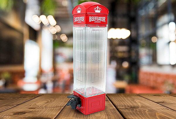 Cabina Telefónica Dispensador de 1 Litro