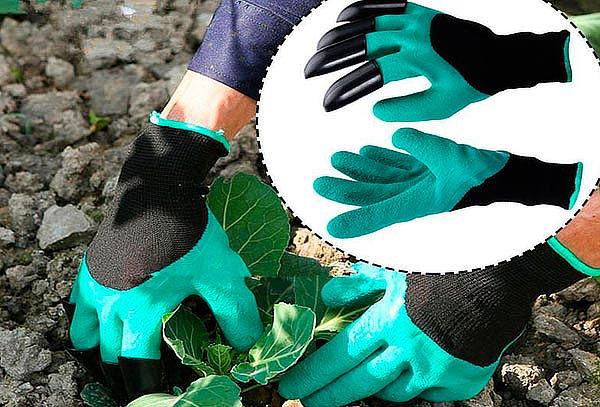 Guantes con Garras Para Excavar y Plantar