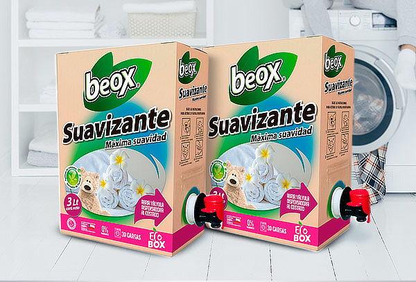 2 Cajas de Suavizante Beox ecobox de 3 litros cada una