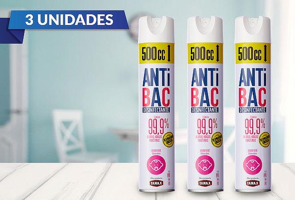 Pack 3 Aerosol Desinfectantes Tanax 500cc