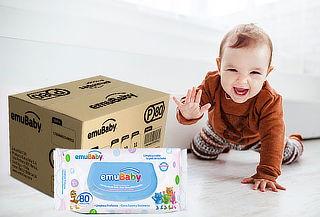 Pack 18 Paquetes Emuwipes® Premium 80 Hojas