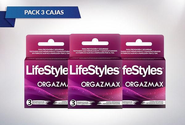 Pack Preservativos Lifestyles 2 Orgazmax + 1 Climax Control