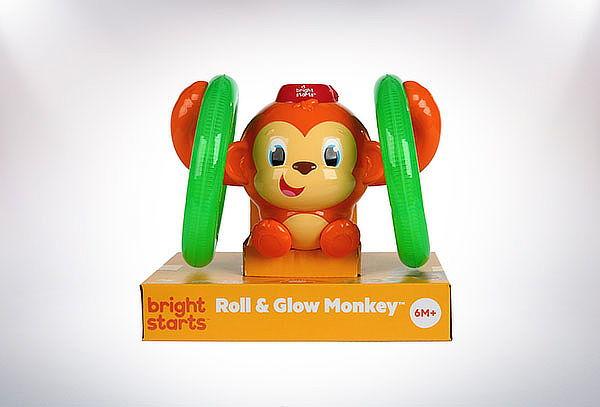 Juguete Mono Gira y Brilla Roll & Glow Monkey