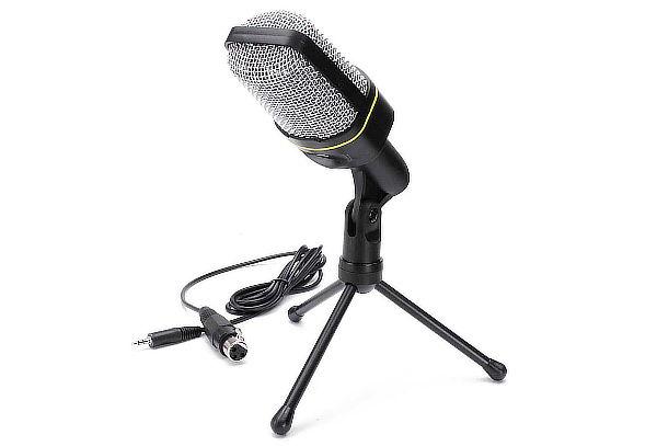 Micrófono Condensador Andowl con Entrada Plug + Envío