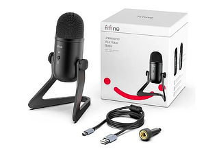 Micrófono Fifine Condensador Negro USB Modelo K678 + Envío