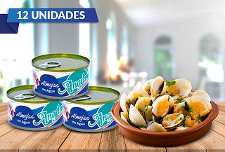 Pack de 12 Almejas 190 gramos al Agua Angelmo