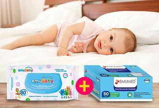 Pack 17 Emubaby Premium 80 Hojas + Caja de 50 Mascarillas