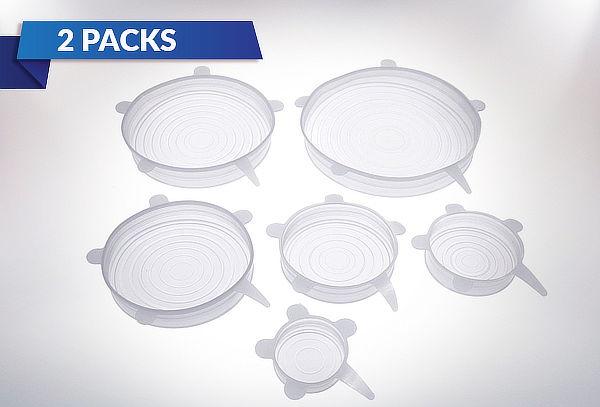 Pack de 2 Set de 6 Tapas Elásticas de Silicona