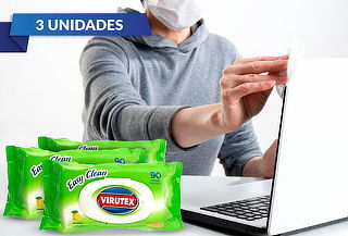 Pack de 3 Toallas desinfectantes (90 unidades) Virutex