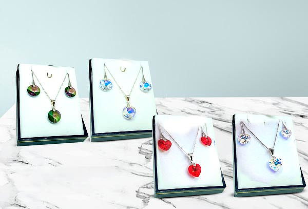 Conjunto de Aros + Collar Cristales Swarovski Elements